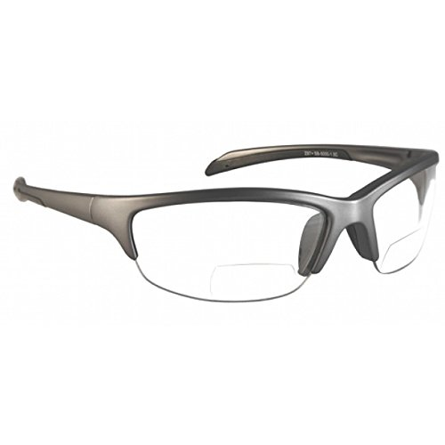Bifocal Safety Glasses with Polycarbonate Clear Lens +1.5 Power Diopter
