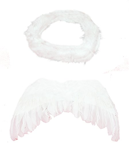 [Fun Play Butterfly Wings Magic Wand And Headband Fairy Costume Set White One Size] (Wood Fairy Costumes)