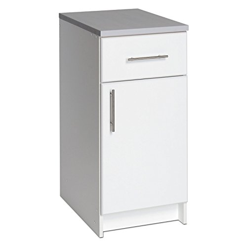 Prepac Elite 16 in. Single Door Utility Storage Base Cabinet - 36H in. (White) ()