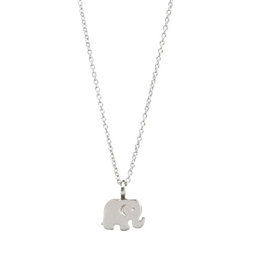 Necklace Make Wish A Dogeared (Dogeared Sterling Silver Good Luck Elephant Reminder Necklace)