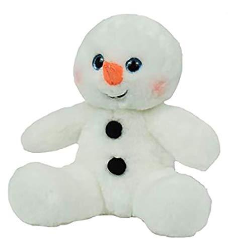 Cuddly Soft 8 inch Stuffed Sweet Snowman...We stuff 'em...you love 'em! (Large Snowman Stuffed)