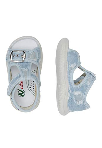 Semi En chaussure Paros ouverte Bleu Toile Naturino RqgAxA