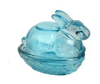 (Northeast Home Goods Glass Easter Bunny Candy Box)