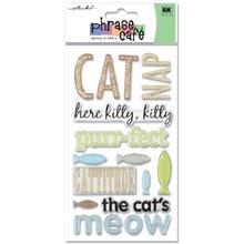 Sticko Phrase Cafe Epoxy Stickers, Cat ()