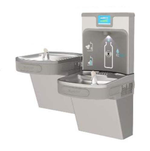 - Elkay LZSTL8WSLP Enhanced EZH2O Bottle Filling Station, & Versatile Bi-Level ADA Cooler, Filtered 8 GPH Light Gray