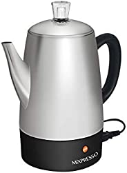 Mixpresso Electric Coffee Percolator | Stainless Steel Coffee Maker | Percolator Electric Pot - 10 Cups Stainl