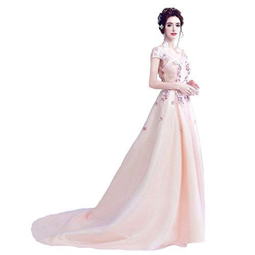 14 Robe Fleur Cordon Du Cou Parti Robe Soirée 4 De Sun Robe Formelle Élégante Douce Banquet Dentelle De V Avec Goddess Luxe zwIURFBq