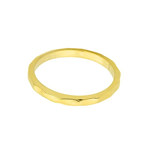 Solid 10k Yellow Gold Hammered Band Baby Ring, Size 1