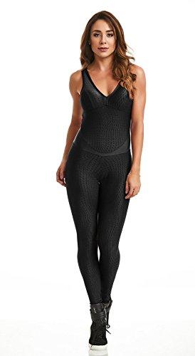 CAJUBRASIL Brazilian Workout Jumpsuit - Deluxe Fusion Black