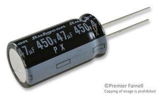 (RUBYCON 450PX47MEFC16X31.5 ALUMINUM ELECTROLYTIC CAPACITOR, 47UF, 450V, 20%, RADIAL (1 piece))