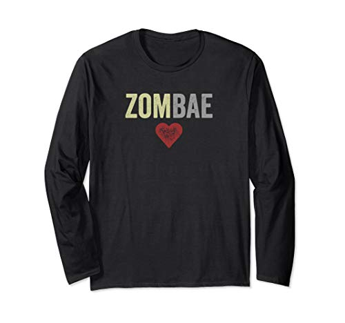 Zombae Halloween Couple Before Anyone Else for Zombie Lovers Long Sleeve T-Shirt]()