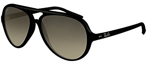 Ray-Ban Cats 5000 RB 4125 Sunglasses Black / Crystal Grey Gradient 59mm & HDO Cleaning Carekit - 5000 Sunglasses Cats Ray Ban