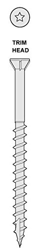 Headcote #8 x 2-1/2'' - #65 Rosy Brown - Stainless Steel Trim Head Deck Screws - 2500 pc. Bulk Pail - STX65V08250 by Headcote (Image #2)