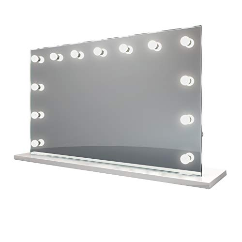 (Diamond X Hollywood Makeup Vanity Audio Mirror with Daylight LED k91sCWaud)