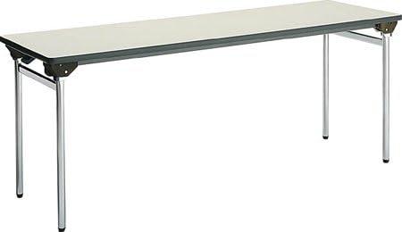 コクヨ 折りたたみ机(長机) KT-500シリーズ 丸脚メッキ 棚付き 幅1800×奥行き600mm 天板カラー:F1