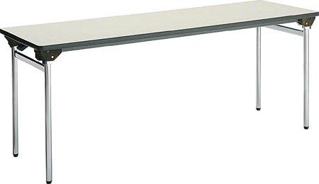 コクヨ 折りたたみ机(長机) KT-500シリーズ 丸脚メッキ 棚なし 幅1800×奥行き600mm 天板カラー:F1 B00AT82B2S F1 F1