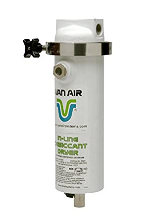 1//2 Connections White Van Air Systems 38-0125 ID15-SW Inline Desiccant Dryer 15 CFM @ 100 psig
