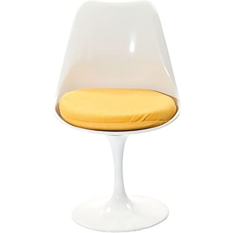 Modway Lippa Dining Fabric Side Chair, Yellow (Yellow Room Chairs)
