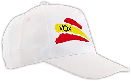 MERCHANDMANIA Gorra Blanca Partido VOX Bandera ESPAÑOLA Color Cap ...