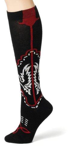 Ozone Design Women's Cowboy Boots Socks,Black,One Size ()