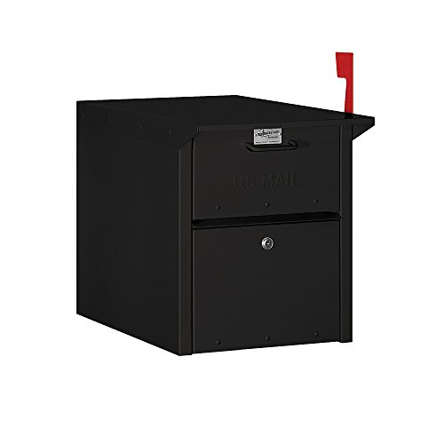 Salsbury Industries 4350BLK Mail Chest, Black (Usps Master Lock)