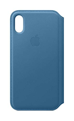 (Apple Leather Folio (for iPhone Xs) - Cape Cod Blue)