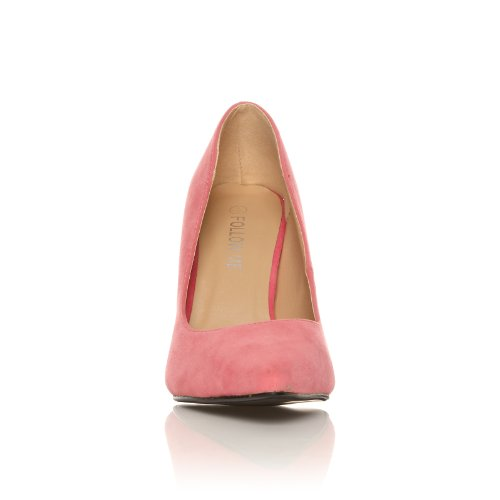 DARCY Coral Faux Suede Stilleto High Heel Pointed Court Shoes 4sSjIWD89w