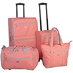 American Flyer Perfect 4-Piece Luggage Set Coral