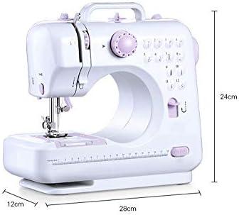 Máquina de coser multifuncional de punto de costura de 12 puntos ...