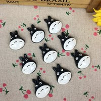 10Pieces Flat Back Resin Cabochon Hayao Miyazaki Totoro Cartoon DIY Flatback Embellishment Accessories Scrapbooking:25x30mm