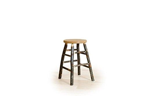 Hickory Rustic Bar Stool - Furniture Barn USA Rustic Hickory Kitchen Stool- 24