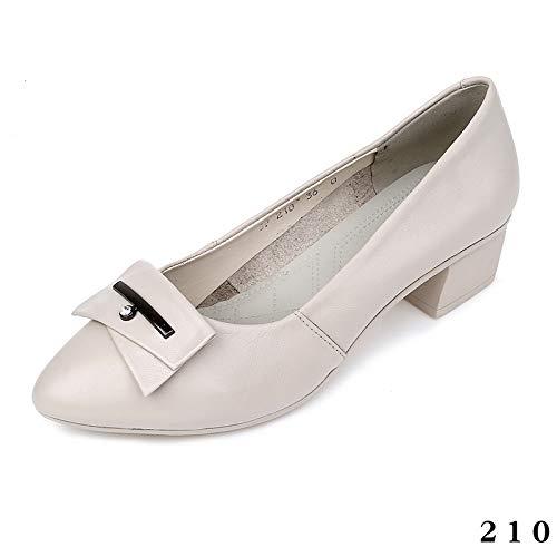 FLYRCX Zapatos la de cómodos de Baja Oficina Oficina Acentuados de Manera Zapatos señoras Las Zapatos de A Zapatos Zapatos Boca de Cuero la de rrCdxwFq