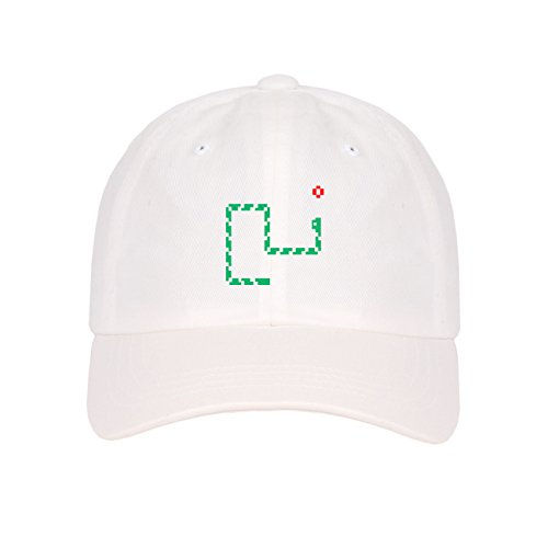 Price comparison product image Embroidered Mini Logos on Unstructured Low Profile Baseball Dad Cap (White-Nokia)