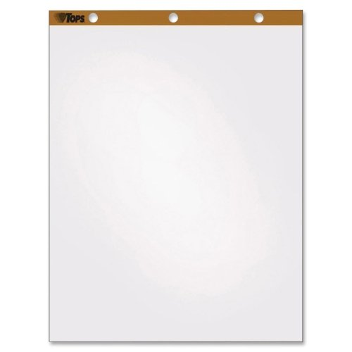 Wholesale CASE of 5 - Tops Single Carry Pack Easel Pad-Easel Pad, Plain Ruled, 50 Sheets, 27''x34'', 4/CT, WE