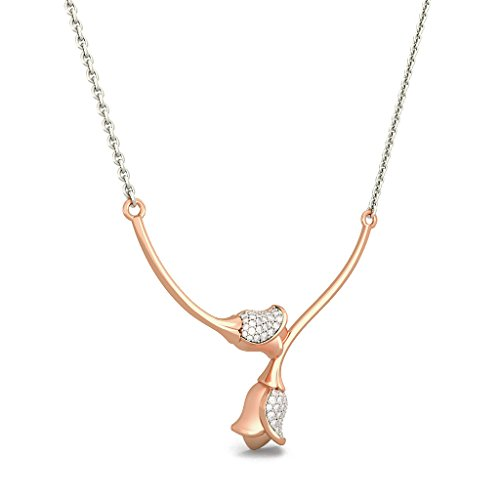 Or Rose 18 K 0,36 CT TW White-diamond (IJ | SI) Mangalsutra