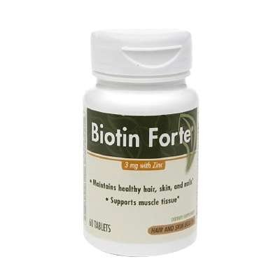 Buy Phytopharmica Biotin Forte 3mg With Zinc Tablets 60 Ea 3 Pack