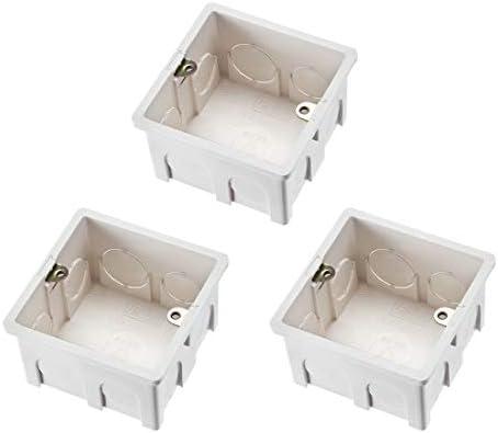 Sourcingmap - Caja de interruptor de pared con montaje empotrado (86 tipos, 3 unidades), color blanco: Amazon.es: Bricolaje y herramientas