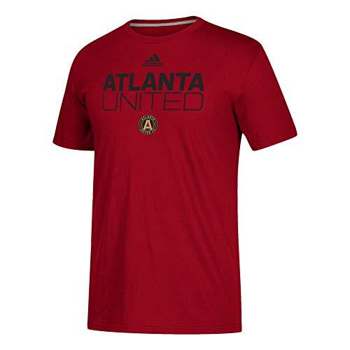 - adidas Atlanta United FC Locker Room Go-to Performance Tee-Victory Red-XL