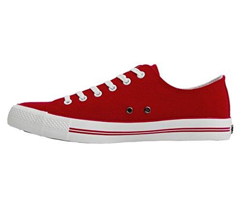 CrossHatch Herren Sneaker Runway Rot