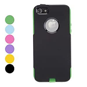 Double Shells Design Black Outer Jacket Hard Case for iPhone 5/5S (Assorted Colors) --- COLOR:Blue