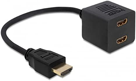 DeLOCK 65226 - Cable HDMI (HDMI a 2 HDMI Macho/Hembra), Negro: Amazon.es: Informática