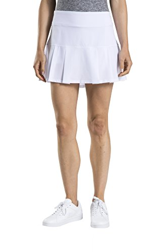 Prince Women's Stretch Woven Athletic Skort, White, XL by Prince