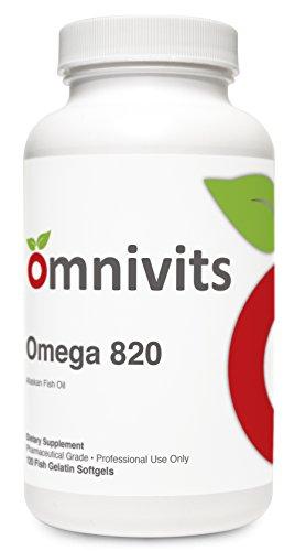 Cheap Omega 820-120 Softgels – Alaskan Fish Oil, Omega-3 Fatty Acids, Pharmaceutical Grade, 820 of EPA and DHA, Heart Health, GMP, Non GMO, Gluten Free
