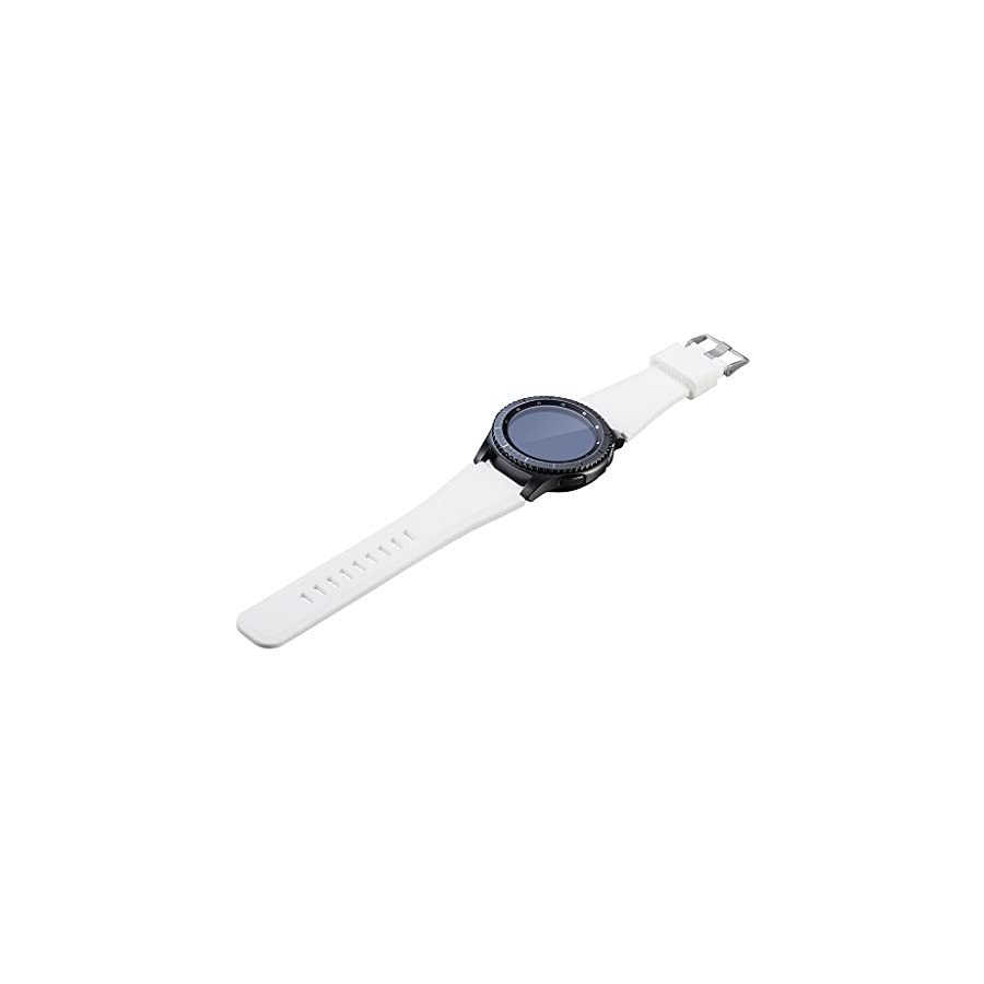 SCASTOE Silicone Bracelet Watch Strap Band L Size Wristband for Samsung Gear S3 Frontier Classic White