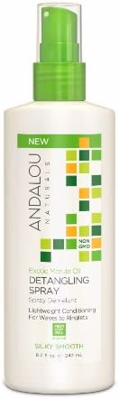 Andalou Naturals Exotic Marula Oil Silky Smooth Detangling Spray, 242ml