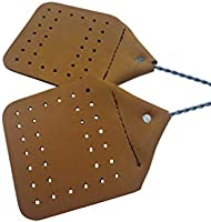 Amish Leather Fly Swatter Brown Holmes County Handcrafted Wire Handle Brown