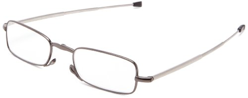 Foster Grant Mens Gideon Rectangular Reading GlassesBlack48 mm 2.5