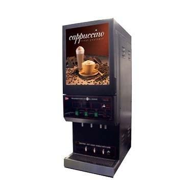 Grindmaster Cecilware Cappuccino Dispenser (1) 10 Lbs Capacity Hopper & (2) 5 Lbs Capacity Hoppers