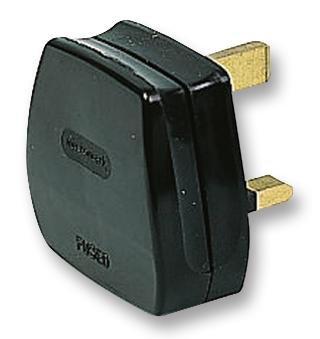 PIKE & CO® ELECTRONICS PKE36552 UK MAINS PLUG BLACK (13A FUSE FITTED) w/min 3yr Warranty - [QTY:3] PIKE & CO®