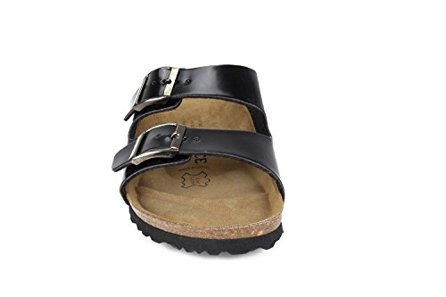 JOE JOYCE Soft Narrow Women Footbed Metallic SynSoft N Slippers London Black Sandals 7xrTw71
